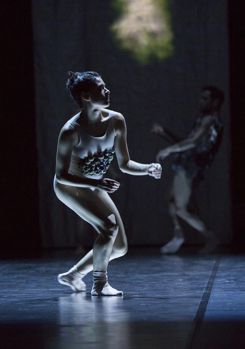 Photographer: Gert Weigelt (© gert-weigelt.de), costume by Hélène Vergnes , live painting by Walter Padao, dancers: Cassandra Martin, Yoav Bosidan