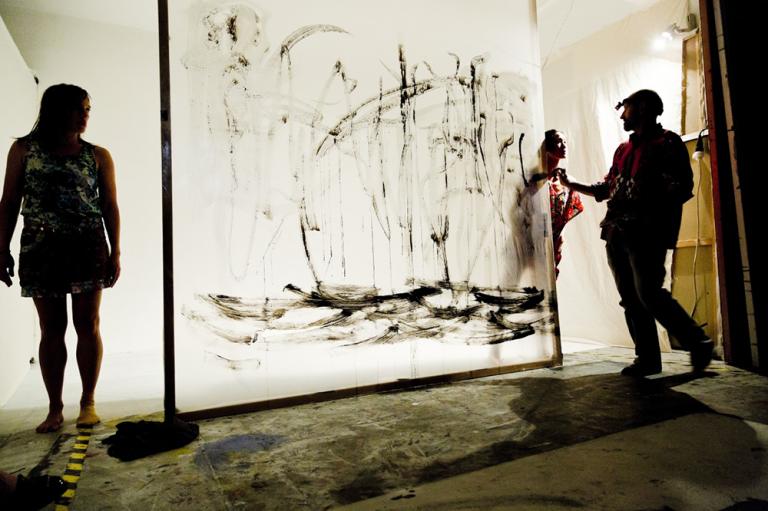 Dancer: Birgit Gunzl, Live painting : Walter Padao, Photographer: Eric Alexander